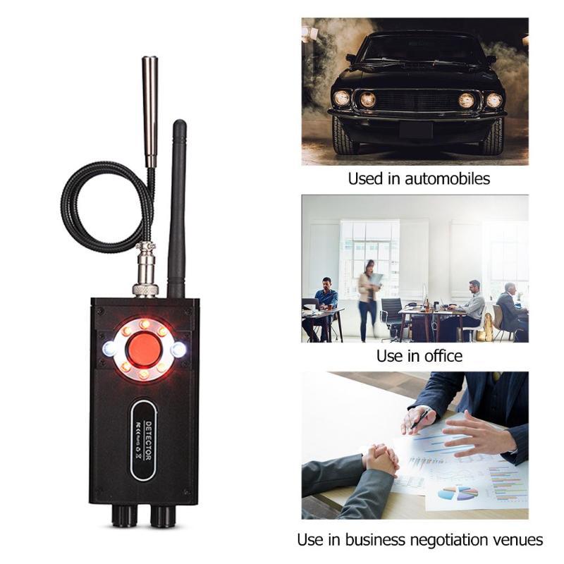 T9000 détecteur de Signal sans fil détecteur Anti-écoute détecteur GPS Tracker caméra infrarouge Scanner écouteur sécurité secrète