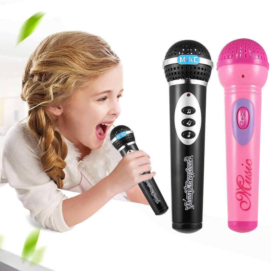 1 Black Y Unisex x Microphone Kid for Toys Funny Mic Music 3 Singing Electronic Pink Gift Education