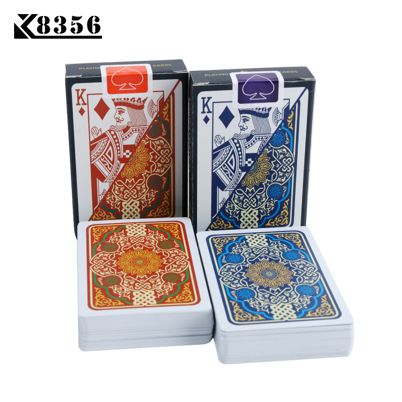 K8356 Plastic Playing Cards Texas Hold'em Poker Cards Narrow Brand PVC Poker Board Games Waterproof Wearable Bridge Can Washed
