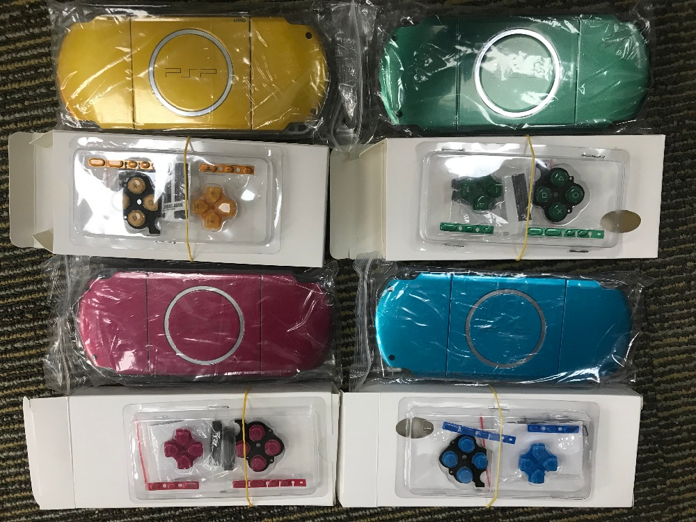 14PCS to USA Full Housing Shell Cover Faceplate Case For PSP3000 PSP 3000 3006 Game Console With LOGO