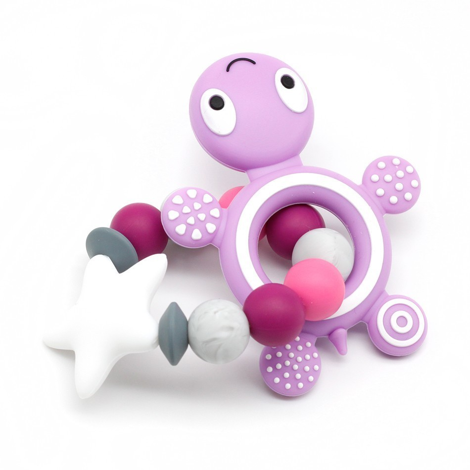 Silicone Teether Baby Silicone Bracelet Cute Silicone Beads Teeth Rubber Food Grade Silicone Teether Toy