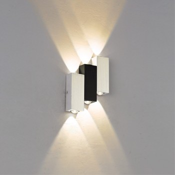 Indoor led wall light Creative Up Down 6W aluminum wall sconce Living room Bedroom Stair Aisle Corridor Home decorate wall lamp european style tiffany colored glass wall light creative retro aisle corridor balcony bedroom wall lamp beauty wall light