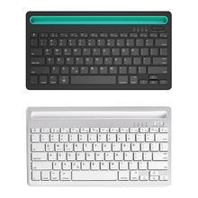 Многофункциональная bluetooth-клавиатура, портативная перезаряжаемая тонкая Бесшумная Беспроводная клавиатура для IOS Android Windows Mac OS