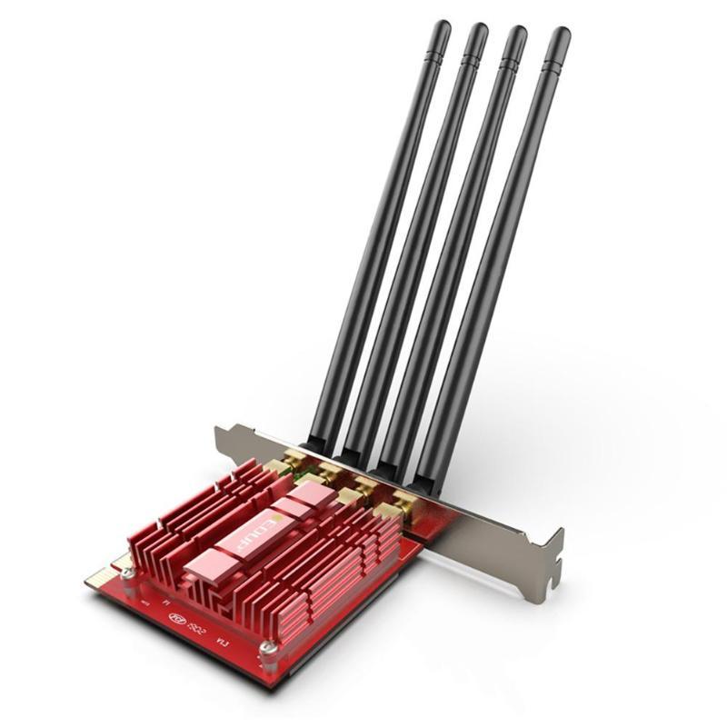 Carte réseau sans fil EDUP PCI-E double bande AC 1900 Mbps adaptateur WiFi de bureau