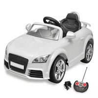 Vidaxl Audi TT RS Ride On Flexible Secure Car For Children Remote Control with Music System White Rechargerable Kids' Toy Car