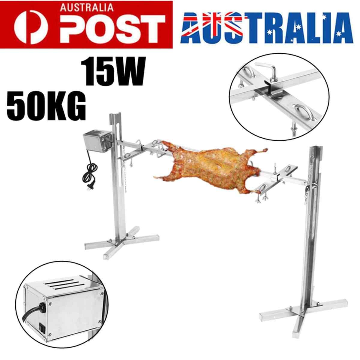 15 W AU Listrik Otomatis BBQ Grill Outdoor Camping Rotisserie Motor Panggang Cabang Logam Meludah Roaster Batang Arang Ayam Babi