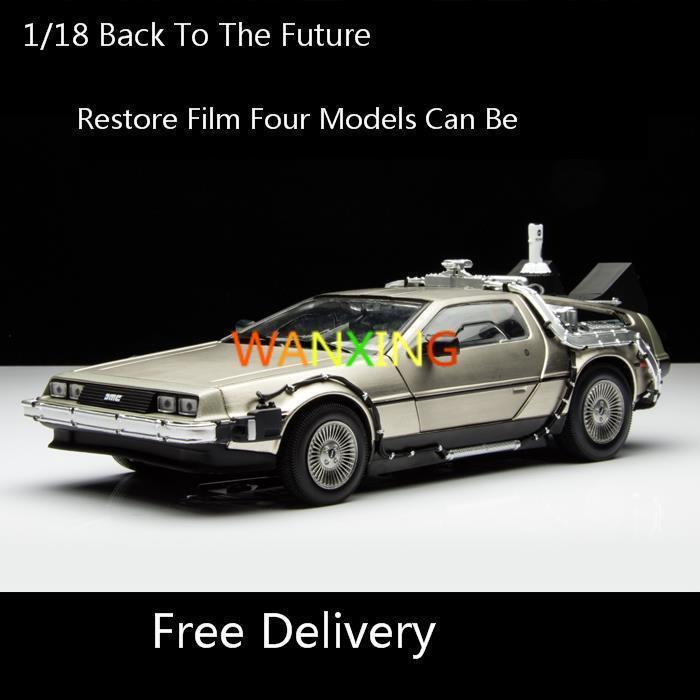 1 18 Back To The Future Movie Series Delorean Alloy Toy DMC 12 Sci fi Car