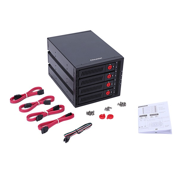 Oimaster 4 Bay Hard Disk Enclosure Rack Data Storage For 2.5 Inch/3.5 Inch Sata Sdd Hdd For 5.25 Inch Drive BayOimaster 4 Bay Hard Disk Enclosure Rack Data Storage For 2.5 Inch/3.5 Inch Sata Sdd Hdd For 5.25 Inch Drive Bay