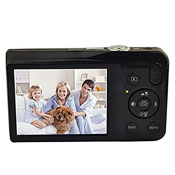 Appareil photo numérique Dc-V100 batterie au Lithium Rechargeable appareil photo Compact avec Zoom optique 5X, Zoom numérique 4X (noir)
