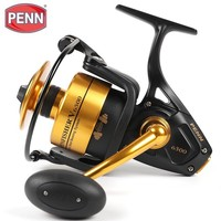 Original Penn Spinfisher V SSV 3500 10500 Spinning Fishing Reel 5+1bb Full Metal Body Ht 100 Saltwater Boat Fishing Reel MAX18kg