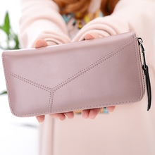 Ladies Long Wallet Zipper Bills Folder Small Fresh Multi-Function Clutch Female Coin Purse