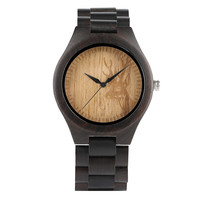 Men Wooden Watches Elk Deer Head Design Bracelet Clasp Black Wood Band Wrist Watch Men Casual Sport Male Watches Timepieces Gift