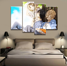 4 Piece Anime Poster Natsume Friends Account Wall Printed Painting Home Decor Japanese Cartoon Decoration Poster Canvas real account 4
