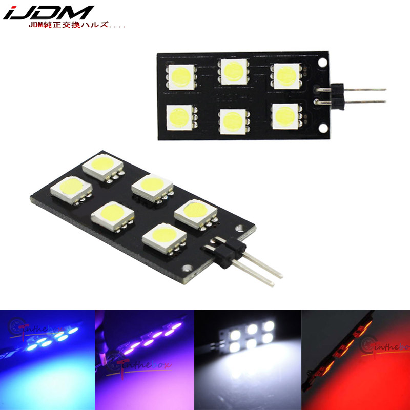 IJDM Car Motorcycle 12V CANBUS Error Free 5050-SMD LED For 2008-2015 Audi A4 S4 B8 Indoor Light Footwell Lights White Red Blue