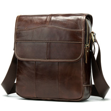 Fashion Shoulder Bags For Men Genuine Leather Business Briefcase Men Crossbody Bag Satchel  Vintage Messenger Bags Bolso Hombre