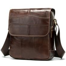 Moda bolsas de ombro para homens couro genuíno maleta de negócios homens crossbody saco satchel vintage mensageiro sacos bolso hombre
