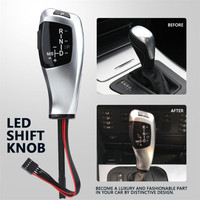 Car Auto LHD Automatic Gear Head Shift Knob with LED Gear Position Indicator For BMW E46 E60 E61