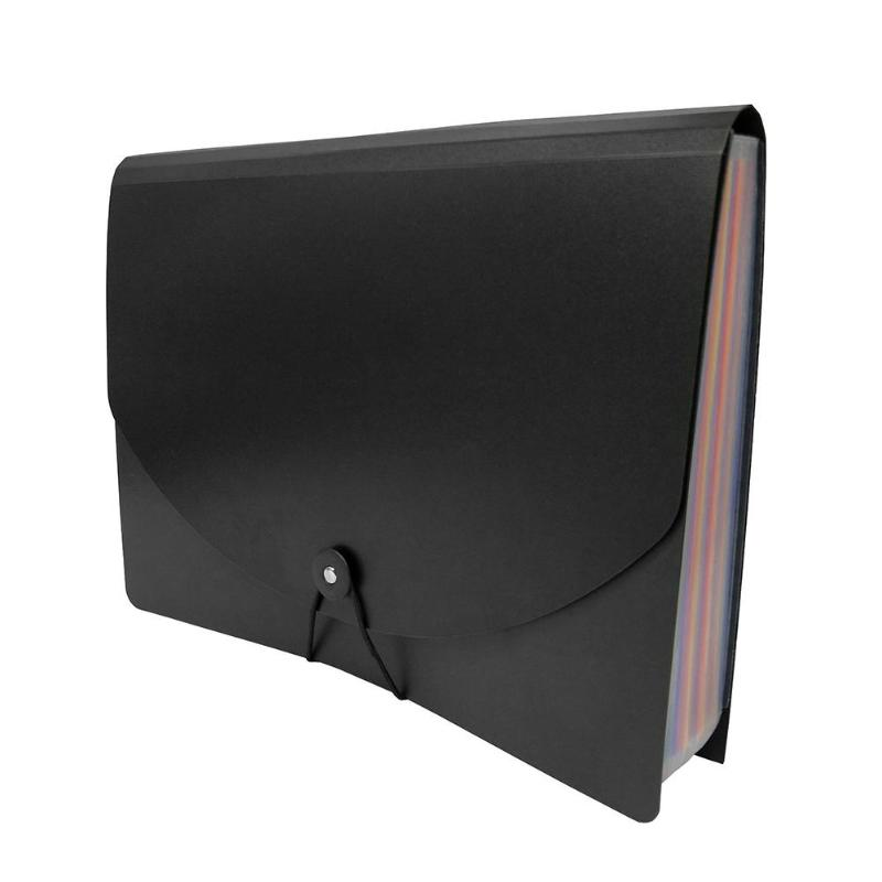12/24 Pockets Classified File Folder A4 Organizer Business File Office Supplies Document Holder with Cover Filing Products 3