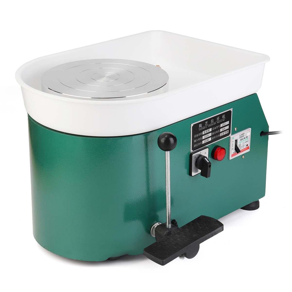 350 W 110 V US élégant vert électrique poterie roue Machine accessoire céramique argile outil pied pédale Art artisanat - 2