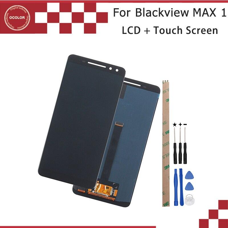 Kolor dla Blackview MAX 1 wyświetlacz LCD i ekran dotykowy Digitizer 6.01 ''dla Blackview MAX 1 wymiana ekranu + narzędzia + klej w Ekrany LCD do tel. komórkowych od Telefony komórkowe i telekomunikacja na AliExpress - 11.11_Double 11Singles' Day 1
