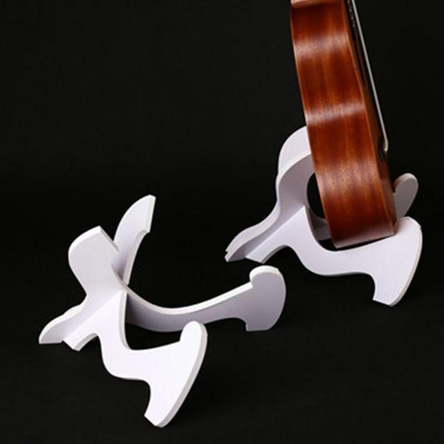 Acessórios de guitarra Guitarra de Madeira Dobrável Baixo PVC Dobrável Stand Holder Ukulele Violino Bandolim Banjo Acessórios