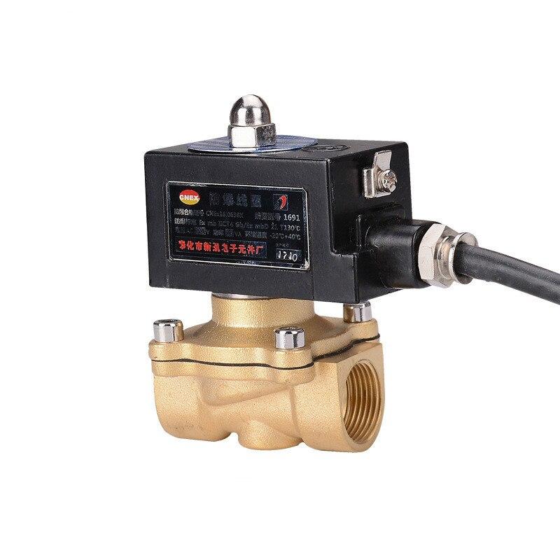 Électrovanne pneumatique à eau électrique en cuivre pur électromagnétique bidirectionnel bobine le Conduit gaz de charbon 1 pouce anti-déflagrant