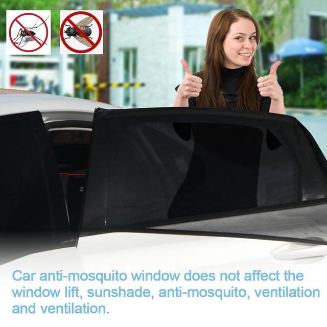 Sol Do Lado Da Janela do carro Carro Anti-Mosquito Cortina de Fios Tela Preta