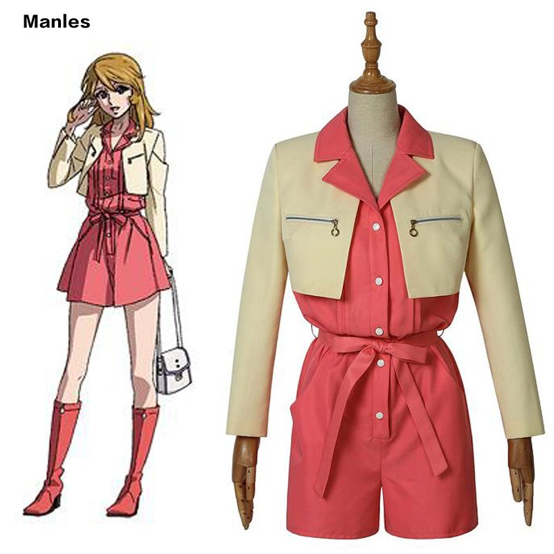 Anime Star Blazers 2202 Cosplay Nova Mori Yuki Costume Suit Carnival Adult Halloween Custom Made School Uniform Jumpsuit Coat