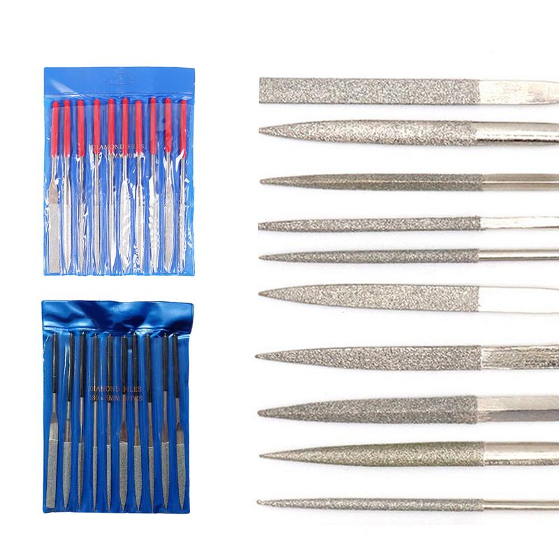 5//Set Jeweler Hand Needle Steel Files Set For Wood Glass Metal Stone Carving