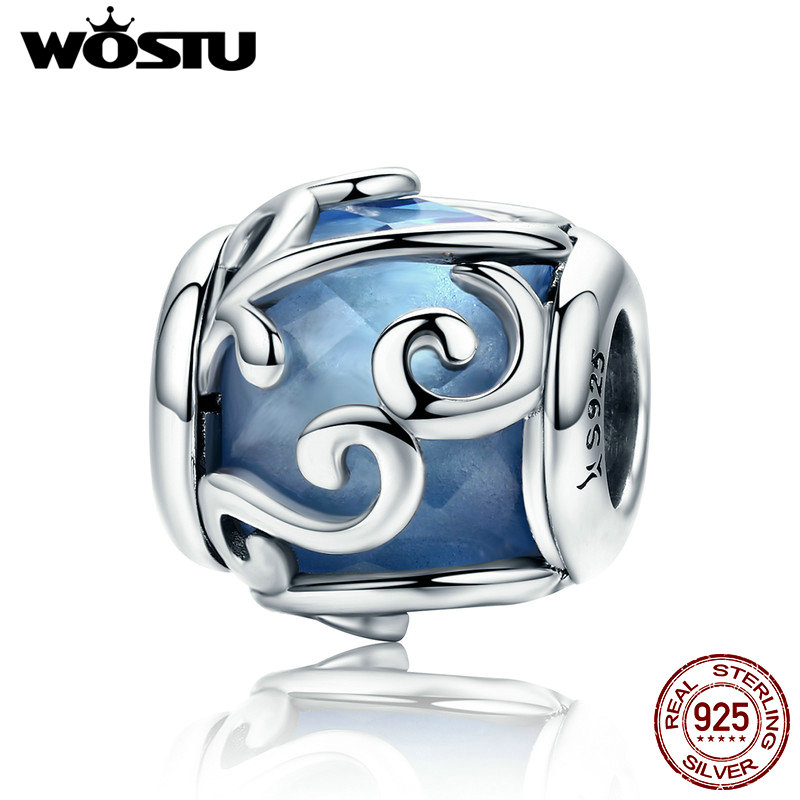 WOSTU Hot Sale 100% 925 Sterling Silver Nature's Radiance Charm Beads Fit Asli Gelang Otentik DIY Perhiasan Perak Hadiah