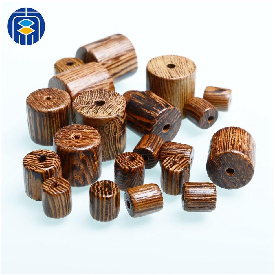Buddhist Wooden Beads 8/10/12mm Natural Red Sandalwood Prayer Mala Cylinder Barrel Wood Bead for DIY Bracelet(China)