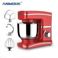Анималистический Кухня кухонный миксер с подставкой 1000 W 5.5L Нержавеющаясталь миска 8 скорость крем яичный венчик блендер торт миксер для т