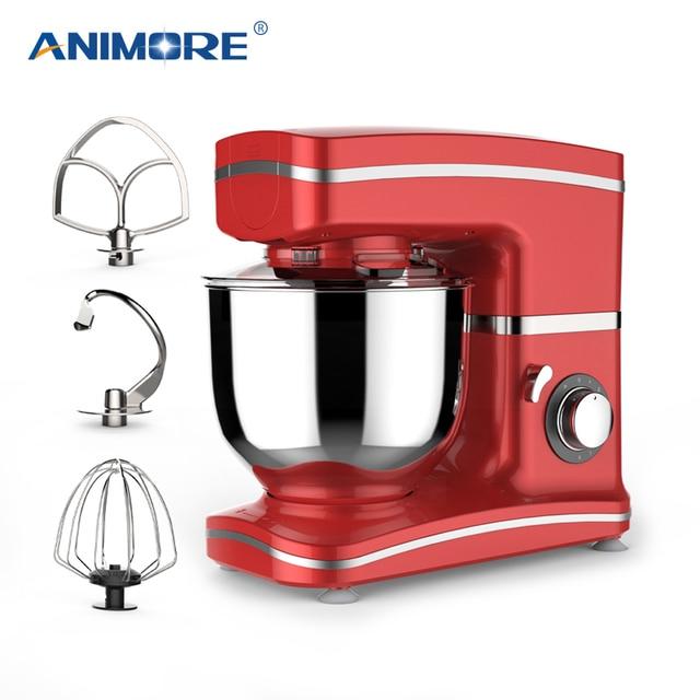 Анималистический Кухня кухонный миксер с подставкой 1000 W 5.5L Нержавеющаясталь миска 8-скорость крем яичный венчик блендер торт миксер для теста чайник