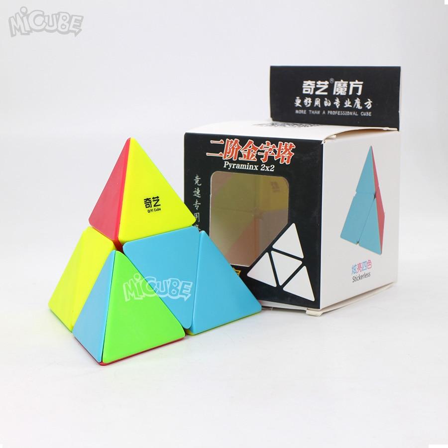 Pyramid 2x2 Qiyipyraminx Qiyi 2x2x2 Magic Cube Speed Puzzle Stickerless Educational Toys For Children Cubo Magico