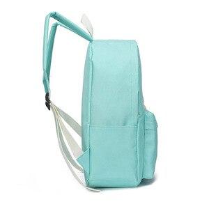 Image 5 - Yeni moda naylon sırt çantası sevimli bulut baskı okul çantaları gençler için okul için rahat çocuk sırt çantası seyahat çantaları