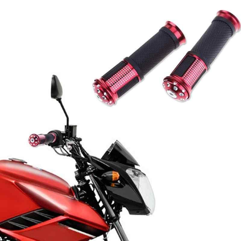 2 шт. алюминиевый рукоятки для мотоциклов сплав нескользящий руль Универсальный Мотоцикл ATV противоскользящая ручка ручной бар концы Новый
