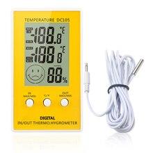 1 шт. DC105 ЖК-цифровой термометр-гигрометр, Метеостанция для использования в помещении, измеритель температуры и влажности, температурный дисплей