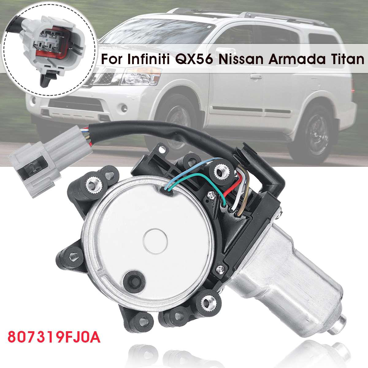 807319FJ0A Front Left Driver Side Window Motor For Infiniti QX56 for Nissan 2004 2014 Armada Titan