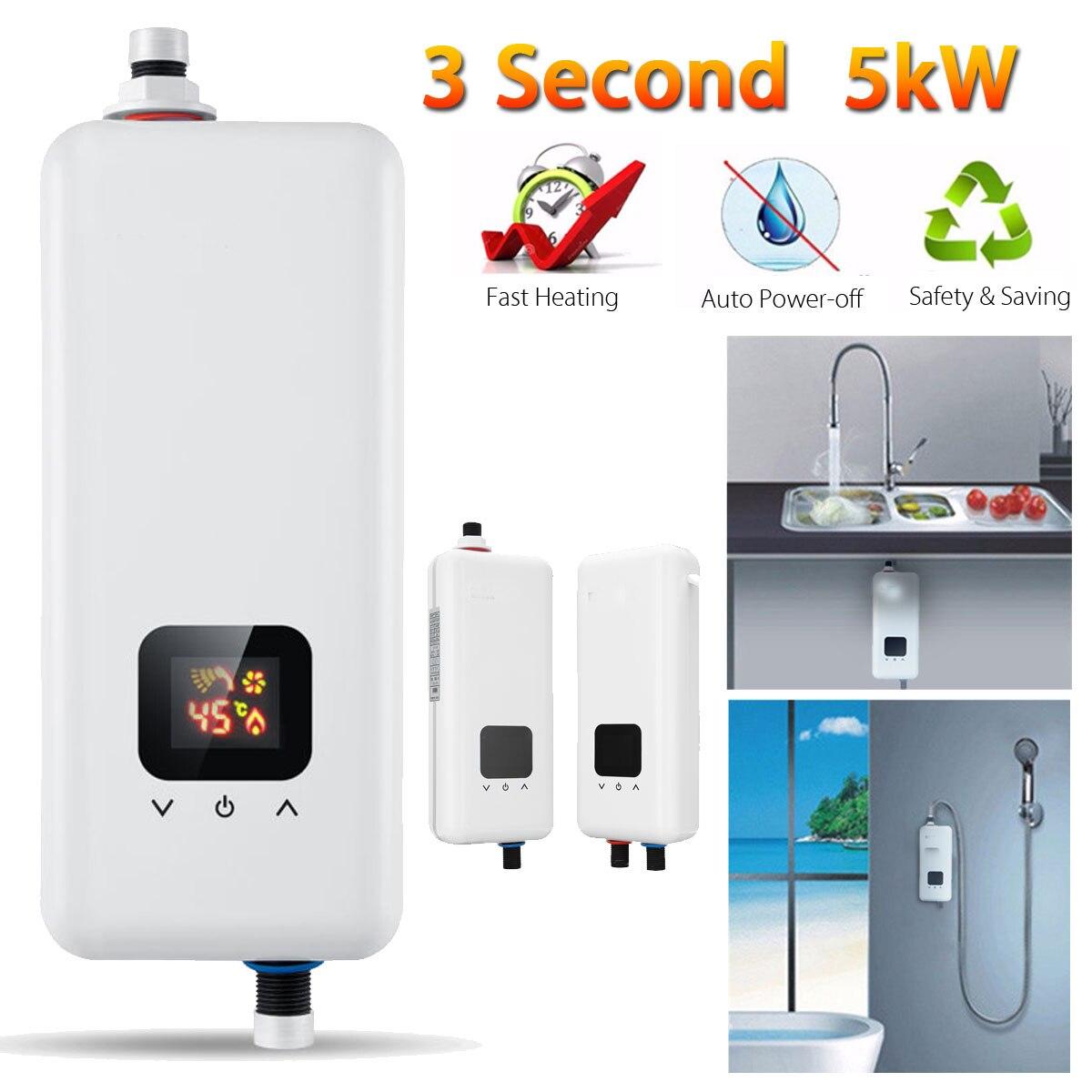 Warmtoo Mini système d'eau chaude instantanée électrique sans réservoir 220 V 5500 W robinet cuisine chauffe-eau instantané du robinet