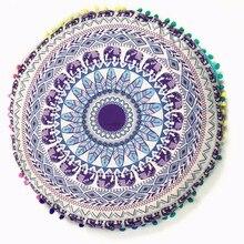 Colorful Mandala Floor Pillows Ottoman Round Bohemian Meditation Cushion Pillow Pouf