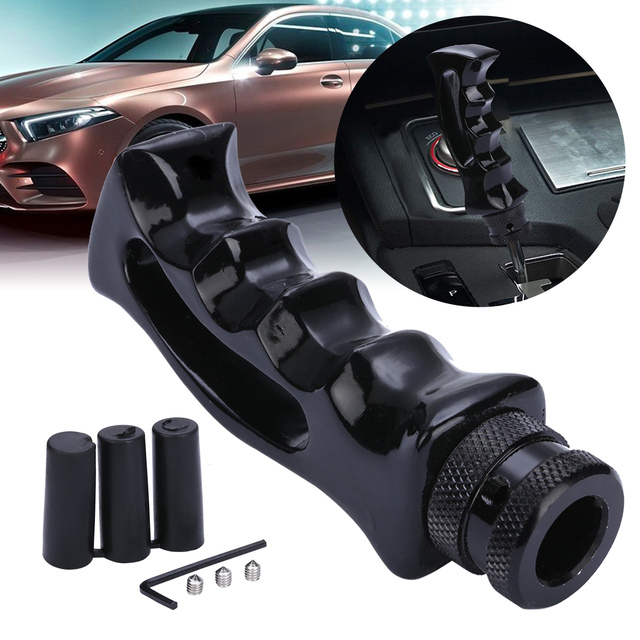 New Arrival 1 pc Universal Black Pistol Grip Handle Manual Gear Stick Shift Knob Shifter Lever