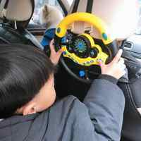 Musical Simulation Driving Steering Wheel Equipped With Music Instruments Driving Sounds Toys For Baby