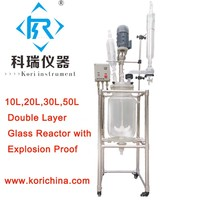 10L Double Layer Ex Proof Jacketed Glass Reactor Bio Glass Reactor with Explosion Reactor/oil extraction equipment