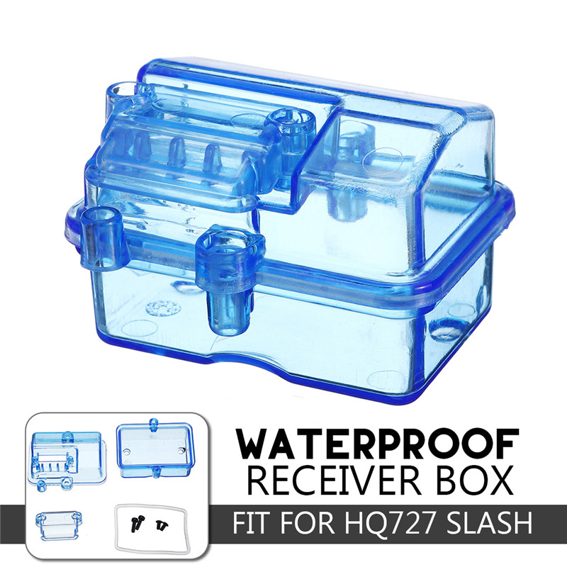 Hot Blue Plastic Waterproof Receiver Receiving Box For Huanqi727 / Slash RC Car Remote Control Accesory
