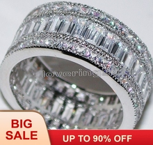 Victoria Wieck Engagement Jewelry Princess cut 20ct Topaz simulated diamond 14KT White Gold Filled Wedding Band Ring Sz 5-11 new arrivals vintage round 5 5mm semi mount ring in 14kt white gold diamond engagement setting ring for sale ywr00103