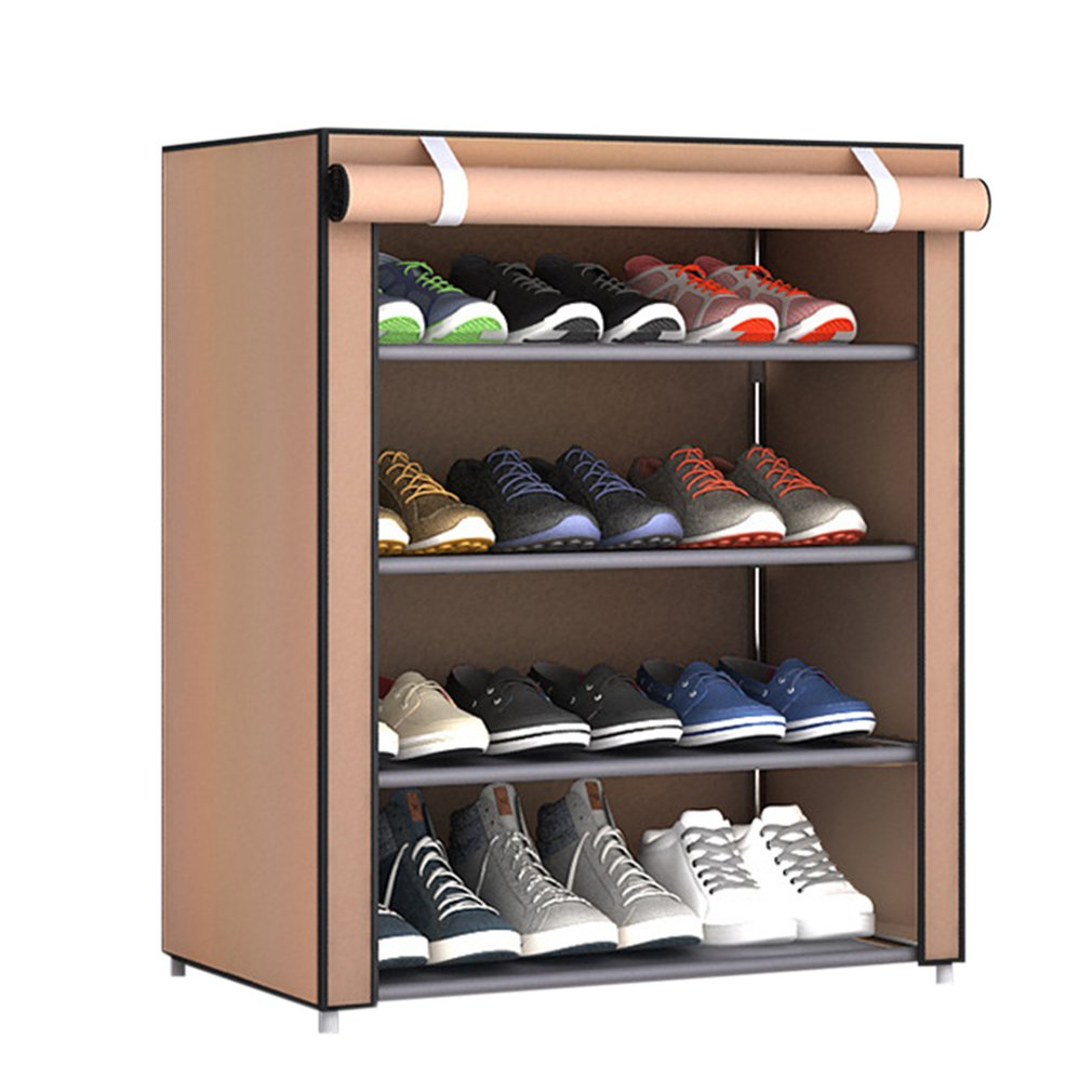 Magic Union Simple Multi-layer Shoe Rack Household Storage Cabinet Cloth Dust-proof Assembly Bedroom Dormitory Shoe Shelf Discounts Sale Furniture