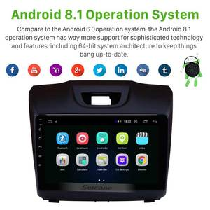 Image 2 - Seicane 2Din 9 Inch Android 9.1 GPS Car Radio Stereo For Isuzu D MAX Chevrolet S10 2015 2016 2017 2018 Wifi bluetooth Head Unit