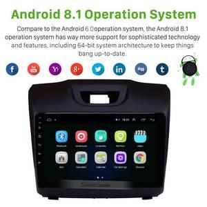 Image 2 - Seicane Radio estéreo con GPS para coche, Radio con Android 9,1 de 9 pulgadas, 2Din, Wifi, bluetooth, para unidad central, para D MAX Isuzu, Chevrolet S10, 2015, 2016, 2017, 2018
