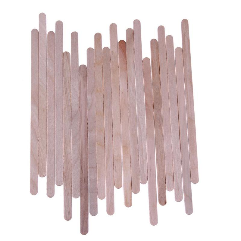 20pcs Wax Wooden Hair Removal Sticks Disposable Wooden Tongue Depressor Facial Mask Stick Waxing Body Hair Care For Hair Removal