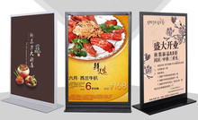 Desktop poster display stand POP vertical card KT board billboard table advertising rack A3/A4 double-sided brand shelf